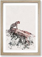 Big Box Art Leopard Upon The Rock Watercolour