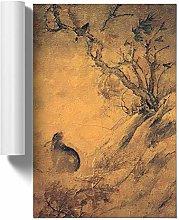 Big Box Art Magpies and Hare by Cui Bai, Wall Art