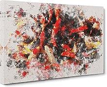 Big Box Art Many Fish Watercolour Canvas Wall Art
