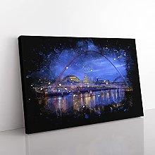 Big Box Art Millennium Bridge in Newcastle Paint