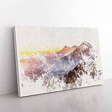Big Box Art Over the Volcano in Guatemala