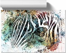 Big Box Art Portrait of a Zebra in Abstract, Wall