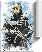 Big Box Art Poster Print Banksy Smiley Copper Wall
