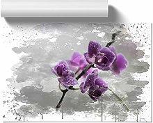 Big Box Art Poster Print Wall Art Flower Purple