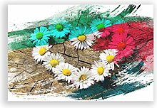Big Box Art Poster Print Wall Art Flower White