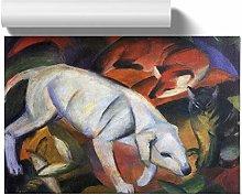 Big Box Art Poster Print Wall Art Franz Marc Dog,