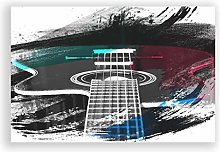 Big Box Art Poster Print Wall Art Guitar Black and