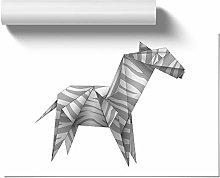 Big Box Art Poster Print Wall Art Origami Zebra |