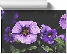 Big Box Art Poster Print Wall Art Purple Flowers |