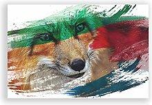 Big Box Art Poster Print Wall Art Red Fox (5) V2 |