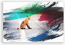 Big Box Art Poster Print Wall Art Red Fox on The
