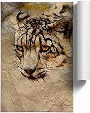 Big Box Art Poster Print Wall Art Snow Leopard |