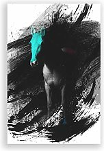 Big Box Art Poster Print Wall Art White Horse V2 |
