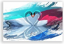 Big Box Art Poster Print Wall Art White Swan Love