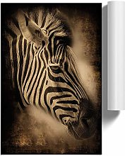 Big Box Art Poster Print Wall Art Zebra Face |
