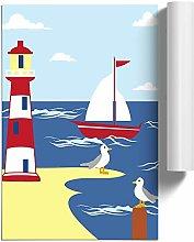 Big Box Art Poster Print Wall Childrens Lighthouse