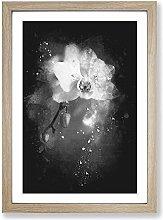 Big Box Art Pretty White Orchid Paint Splash