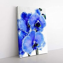 Big Box Art Purple Orchid Flowers in Abstract