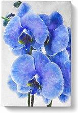 Big Box Art Purple Orchid Flowers Painting Canvas