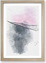 Big Box Art Purple Sunset Sketch Framed Wall Art