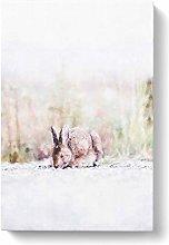 Big Box Art Rabbit Grazing Painting Canvas Wall
