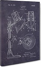 Big Box Art Reading Lamp Patent Dark Canvas Wall