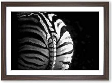 Big Box Art Rear of a Zebra Framed Wall Art