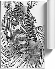 Big Box Art Sketch of a Zebra in Abstract, Wall