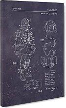 Big Box Art Space Suit Patent Dark Canvas Wall Art