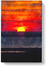 Big Box Art Sunset in Florida Painting Canvas Wall