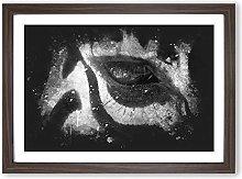 Big Box Art The Eye of a Zebra Paint Splash Framed