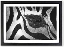 Big Box Art The Eye of a Zebra Painting Framed