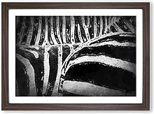 Big Box Art The Stripes of The Zebra in Abstract