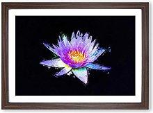 Big Box Art Violet Water Lily Framed Wall Art