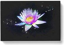 Big Box Art Violet Water Lily Paint Splash Canvas