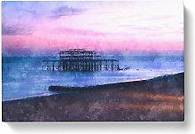Big Box Art West Pier Brighton Beach Painting