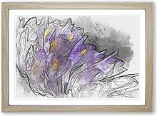 Big Box Art Wild Purple Orchid Flowers in Abstract