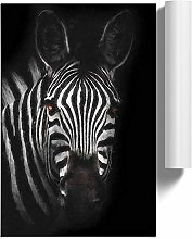 Big Box Art Zebra in The Shadows in Abstract, Wall