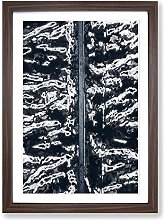 Big Box Art Zebra Stripes in Iceland Framed Wall