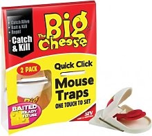 Big Cheese Quick Click Mouse Trap Twinpack- pest