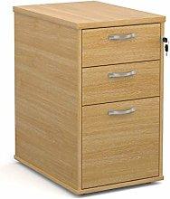 Big Deals Desk high 3 drawer pedestal with silver