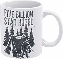 Big Foot Coffee Mug, Camping Tent Ceramic Mug Cup