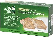 Big Green Egg Charcoal Fire Starters, Box of 24
