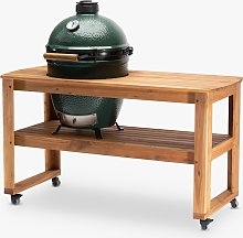 Big Green Egg Large Egg BBQ & Acacia Wood Table