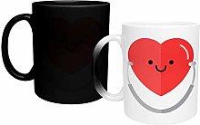 Big Pink Heart Medicine Magic Mug, Funny Novelty