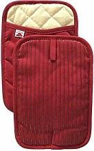 Big Red House Oven Gloves Set – 2 Silicone and