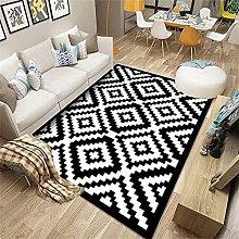 Big Rug Carpet For Bedrooms Black white diamond