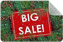 Big Sale Christmas Pattern Door Mat, Machine
