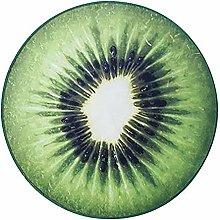 BIGBOBA Fruit Pattern Round Soft Rug Non-slip Area