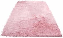 BIGBOBA Pink Soft Area Rugs Living Room Rectangle